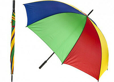 "Golf Umbrella   39"" Deluxe Multi Colour Golfing / Walking - Large Rain  Brolly"