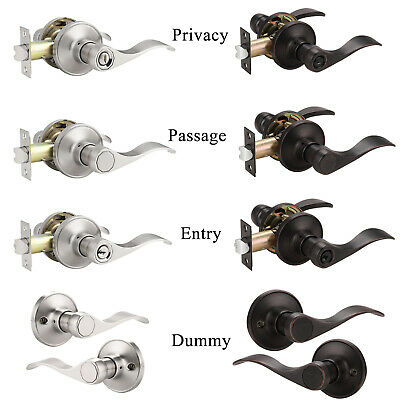 Brushed Nickel Entry Locks ORB Privacy Passage Door Lever Handles Dummy Knobs