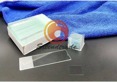 50PCS with 100PCS Square Cover Glass new Blank Microscope Slides