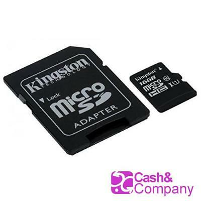 Kingston SDCS/16GB - MicroSD Canvas Select 16GB, velocidades de UHS-I Clas #4646