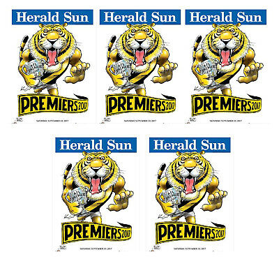 5 X 2017  Richmond Premiers Herald Knight posters Premiership Poster