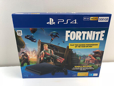 Genuine SONY Playstation 4 Slim 500GB Console Fortnite Edition AU STOCK