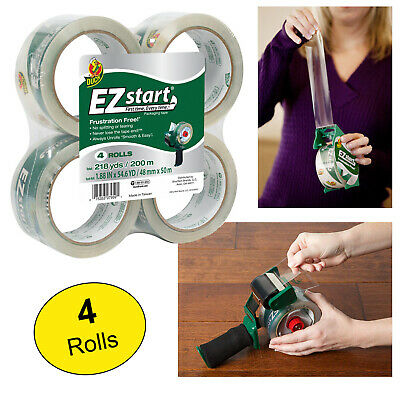 DUCK PACKAGING TAPE REFILL Heavy Duty HD Clear Student Shipping Tapes 6 ROLLS