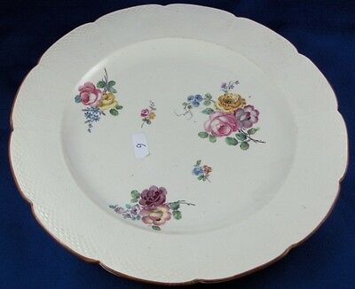 Rare 18thC Chantilly French Softpaste Porcelain Floral Plate Porzellan Teller #5