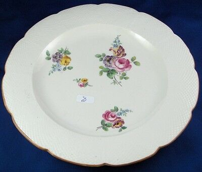 Rare 18thC Chantilly French Softpaste Porcelain Floral Plate Porzellan Teller #6