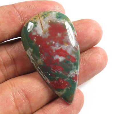 Pear Cabochon  46.40 Cts 100% Natural BLOODSTONE Loose Gemstone 45x26 mm