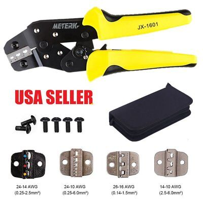 Insulated Cable Connectors Terminal Ratchet Crimping Wire Crimper Plier Tool&Kit