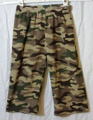 Baby Boys Carters Green Brown Camouflage Fleece Joggers Trousers Age 18-24