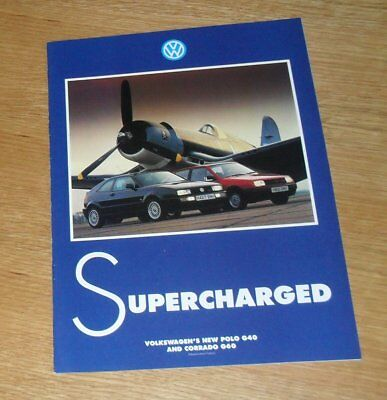Volkswagen VW Polo G40 Coupe & Corrado G60 Supercharged Promotional Brochure