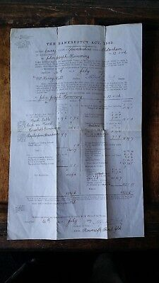 1887 Bankruptcy Act Notice To Creditors For Release - John Hemming / Henry Hill