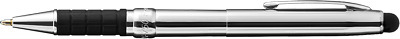 CHROME PLATED  X-750/S by Fisher Space Pen- rubber grip with soft touch stylus