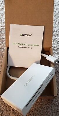 UGREEN USB C Card Reader, Type C SD / TF / CF / MS for Macbook & typeC devices