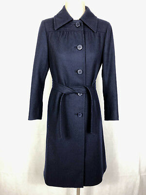 SARTORIA VINTAGE '70 Cappotto Trench Donna Lana Wool Woman Coat Sz.S - 42
