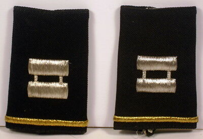 US Army Captain Epaulet Soft Shoulder Boards Small Size for Dress Blues