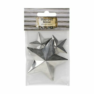 Salvaged, by BCI Crafts Stamped Metal, 3 Small Stars