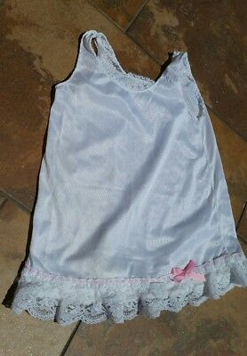 Vintage White Pink Ribbon Girls Slip Gown