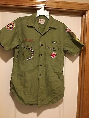 Vintage Boy Scout Shirt 1960's w/patches Short Sleeve