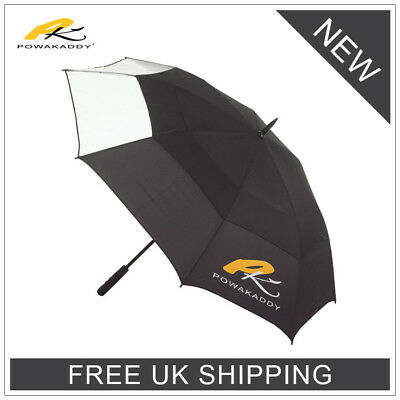 **powkaddy Clearview Double Canopy Golf Umbrella - New 2018 - Free Uk Delivery**