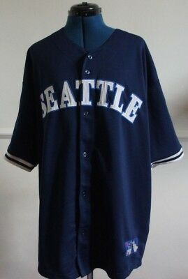 SEATTLE Official MLB Baseball Jersey Shirt Authentic Mens XL mariners/all nation