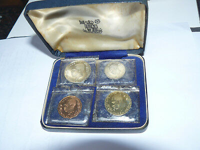 1966 Tanzania 4 Coin Proof set with case