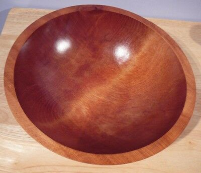 "c 1960-1970 Baribocraft Canada 11.25"" Teak Wood Salad Bowl"