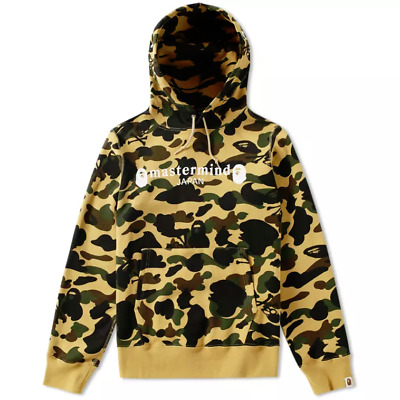 2f105510f8a BAPE X MASTERMIND Japan Velvet Full Zip Hoodie Black Yellow M camo a ...