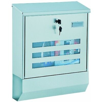 Rottner A4 Jubilee Stainless Steel Large Letter Box with Integrated Newspaper Ho
