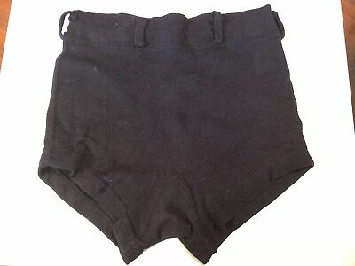 WWII -US Navy- Vintage Wool Military Uniform Swim Trunk/Shorts - Size 24