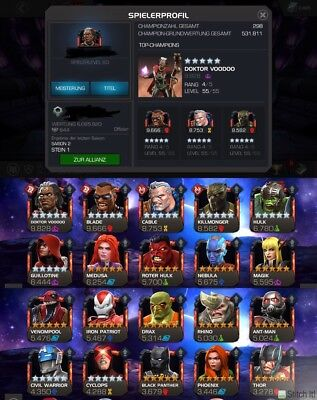 Marvel Contest Of Champions Account
