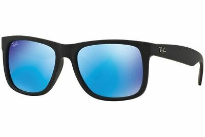 RayBan Justin Color Mix Sunglasses - Black Blue Mirror - 4165 54-16