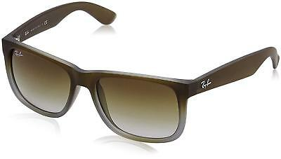 RayBan Justin Classic Sunglasses - Brown Green Gradient - 4165 54-16