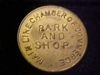 HAVERFORD PA PARKING TOKEN 3448 Ad 23 MM BRASS # E-2-Z