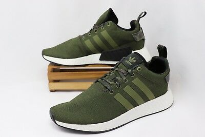 size 40 d7167 96d8d ADIDAS ORIGINAL NMD R2 Running Shoes Olive Green White B22630 Men's NEW
