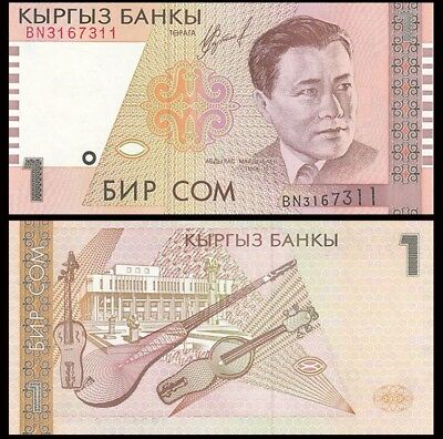 KYRGYZSTAN 1 Som, 1999, P-15, UNC World Currency