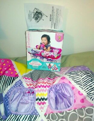 Baby Cart Cover by Infantino Pink/Multi Color with Sippy Cup Strap NEW IN BOX