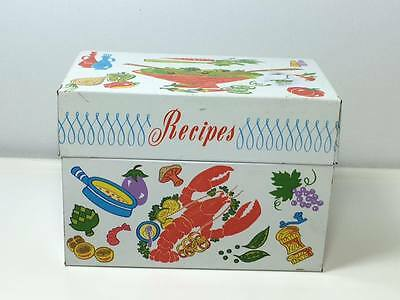 Vintage metal Ohio Art recipe box made in USA
