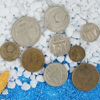 9Pcs Soviet Coins Set Commemorative Coin Collectible Gifts Pop