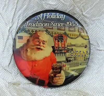 Waffle House Coca-Cola Santa Claus Lapel Pin A Holiday Tradition Since 1955