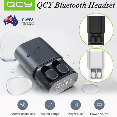 QCY T1 Pro Headphone Wireless Bluetooth Stereo Earphones Headset Earbuds Mic AU