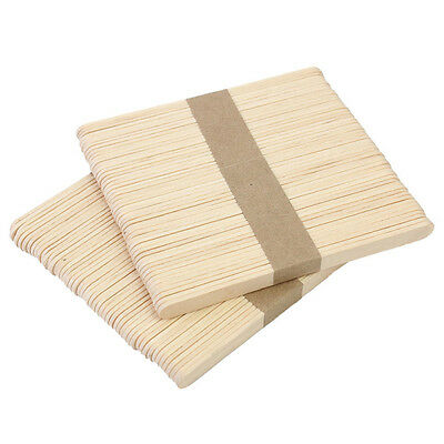 50 High-Quality Wooden Tongue Depressor Waxing Spatula Tattoo Wax Stick Medical#
