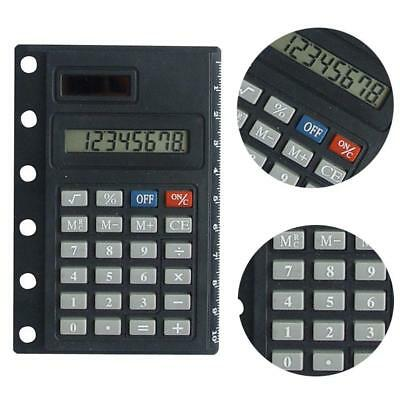 Portable Loose Leaf Binder Spiral Calculator 8 Digits Solar Calculator  :