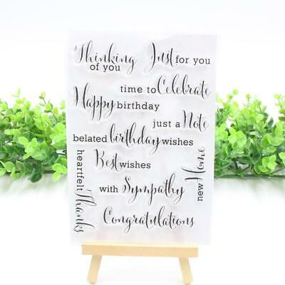 Happy Birthday Silicon Scrapbook Po Album Card Transparent Seal Stamp Decor:
