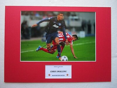 Manchester United Chris Smalling Hand Signed A3 Mounted Photo Display - Coa