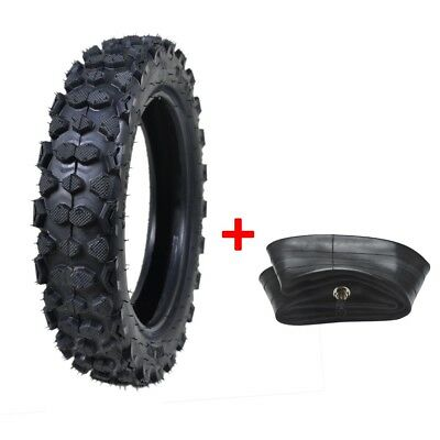 """80/100-10"""" 3.00-10"""" Rear Knobby Tyre Tire +Tube Set For 90-125cc Pit Bike"""