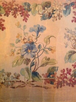 Antique French Abusson Tapestry Sample/ Cartoon Paris Apartment Shabby Chic