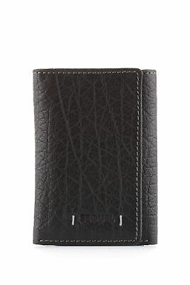 New Sequel Leather Buff Trifold Wallet Mens Trifold Black by-Strandbags