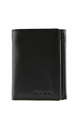 New Pierre Cardin Leather RFID Trifold Wallet Mens Trifold Black by-Strandbags