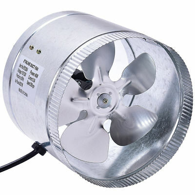 "4"" 6"" 8"" inch Inline Duct Booster Fan Blower Exhaust Ducting Cooling Vent Fan"