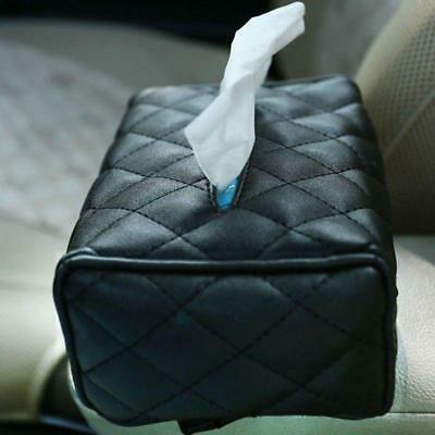 Fashion PU Leather Tissue Box Case Cover Holder Car Napkin Storage Box KTV Home
