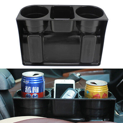 Universal 2 Cup Holder Drink Beverage Seat wedge Car Auto Truck Mount Black